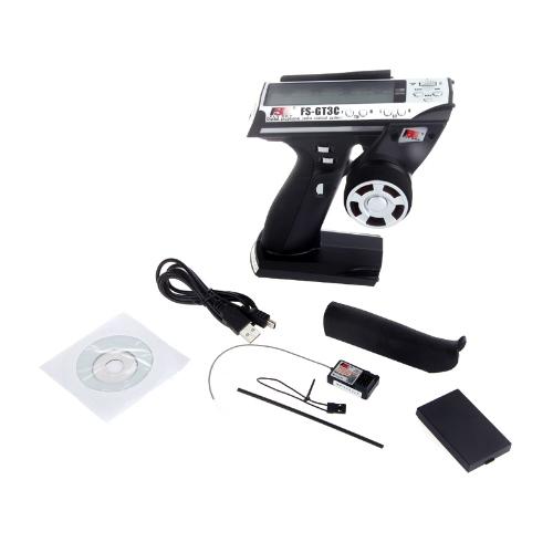 FS-GT3C 2.4G 3CH радиопередатчик модель пульта дистанционного управления LCD & автомагнитолу для автомобиля RC Лодки фото