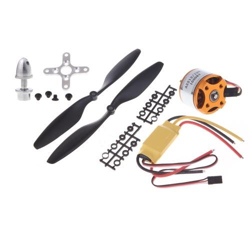4pcs A2212 1000KV Outrunner Motor + 4pcs HP 30A ESC + 4pairs 1045 Prop (B) Quad-Rotor