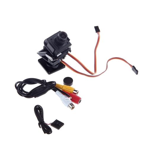 720P High Definition 211 PAL Camera Kit Fully Assembled Pan Tilt Servos Mount Platform Set for RC