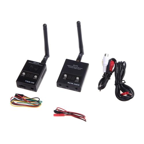 5.8GHz AV Transmission Set TX58 2W Transmitter RC58 32CH Receiver for FPV