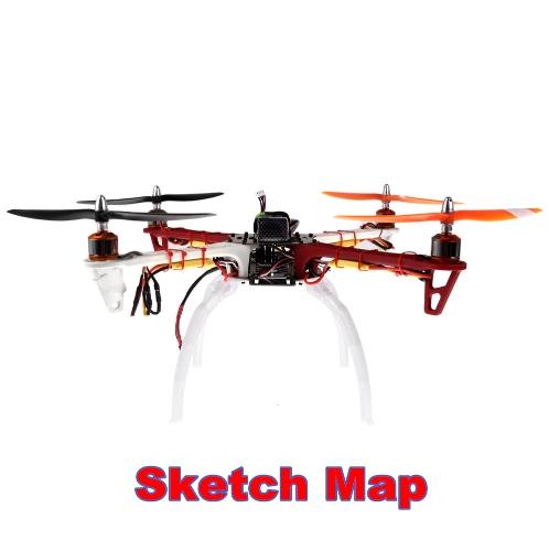 広げる着陸スキッド白ぢ F450 F550 SK480 Qudcopter マルチロータ部分 (ぢ F450 ランディングギア、DJI F550 ランディングギア、SK480 着陸装置) を高める