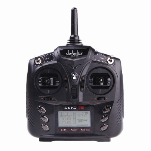 Walkera DEVO 7E 2.4G 7CH DSSS Radio Control Transmitter for RC Helicopter Airplane Model 2 (Walkera Transmitter,DEVO 7E 2.4G 7CH Transmitter)