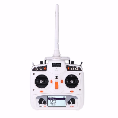 Walkera DEVO 10 10CH 2KM 2.4Ghz Telemetry Function RC Transmitter for RC Helicopter Airplane Model 2(Walkera DEVO 10 Transmitter,10CH 2KM 2.4Ghz Telemetry Transmitter)