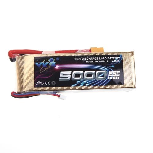 High Power YKS Lipo Battery 11.1V 5000mah 25C MAX 40C XT60 Plug for RC Car Boat Airplane Multirotor Part (Lipo Battery, 11.1V 5000mah 25C,RC Lipo Battery XT60)