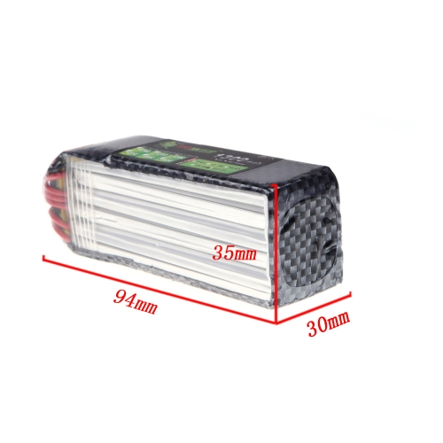 Lion Power Lipo Battery 22.2V 1300Mah 30C MAX 45C T Plug for Align TREX 450 450L RC Helicopter Car Airplane Battery (Align TREX 450 450L Battery,22.2V 1300Mah,Lion Power 22.2V 1300Mah)