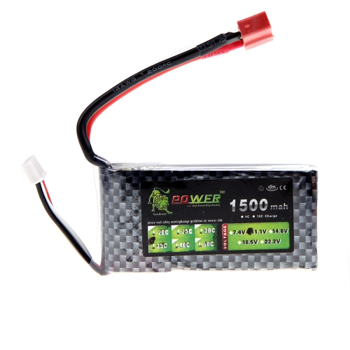 Oriainal Lion Power Lipo Battery 11.1V 1500Mah 35C MAX 50C T Plug for RC Car Airplane Helicopter Part (Lion Power Lipo Battery; 11.1V 1500Mah 35C;RC Lipo Battery T Plug)