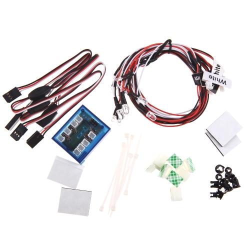 GoolRC Kit di illuminazione No Solder realistico Nuovo Evidenziare 12-LED per RC Auto Camion Part 1 / 10th scala minore (No Solder realistico, Parte Trucks 1 / 10th scala più piccola)