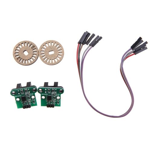 GoolRC Il modulo di misurazione di velocità   di codifica dei set di dischi per Smart Car Chassis (modulo di misurazione della velocità auto; Codifica disco;)