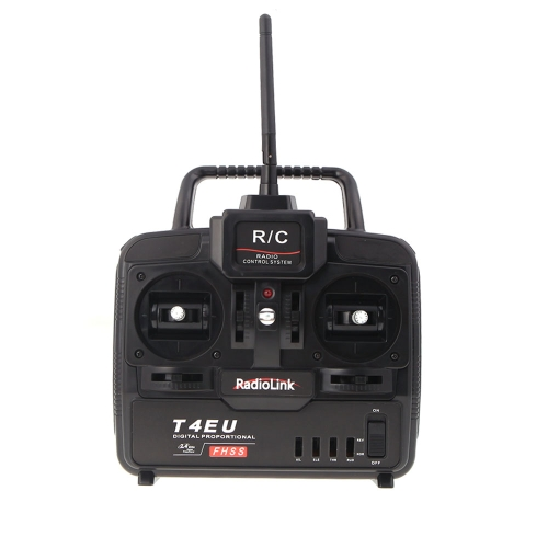 RadioLink T4EU 2.4G 4CH Radio Control System Transmitter w/ R7EH Receiver for RC Airplane Model 2
