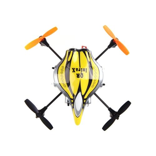 Walkera QR Infra X 6 Axis Stabilizing System UFO Quadcopter Yellow & Black w/ DEVO 4 4CH Transmitter Model 2 (Walkera Quadcopter; QR Infra X;UFO Toys)