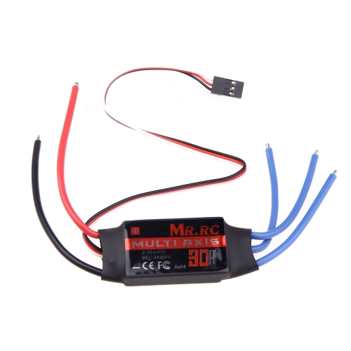 MR.RC 30A Brushless ESC Speed Controller For DJI Flame Wheel F450 Align TREX 450 Helicopter FPV Multicopter Qudcopter Part (MR.RC 30A Brushless ESC,30A ESC)