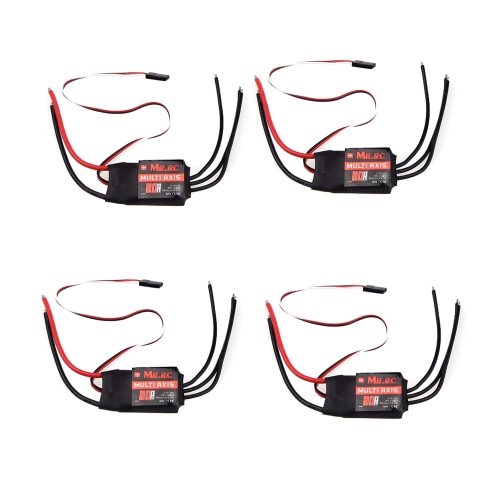 4Pcs MR.RC 20A Brushless ESC Speed Controller For DJI Flame Wheel F330 multirotor Qudcopter Helicopter Airplane Car Part