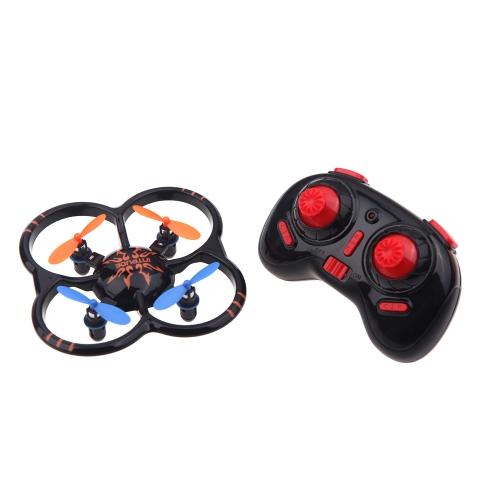 Mini de U207 6 axes Gyro 4CH Radio Controll Black Quadcopter UFO Toys w / LED Lights (UFO Quadcopter; 6 axes Gyro 4CH Radio Control Toys, mini jouets Quadcopter)