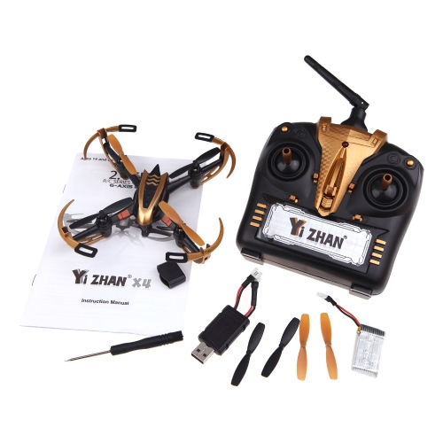 Yizhan Golden X4 4CH 2.4G 6 Axis Radio Controll Quadcopter Model Toys UFO 3D Flying Saucer  (Yizhan X4 Quadcopter;4CH 2.4G 6 Axis Quadcopter;Toys UFO Flying Saucer)