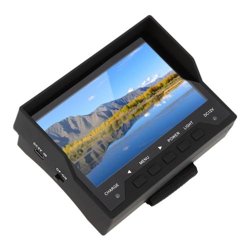 KKmoon 4.3 Zoll TFT LED Tragbare Network Kabel Test Monitor CCTV Kamera Installation Detektion System Sicherheit Tester für Überwachung Audio Video Eingang mit OSD Menü