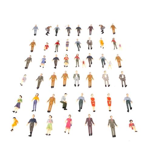50pcs G Scale 1:30 Mix Painted Model People Train Park Street Passenger Figures