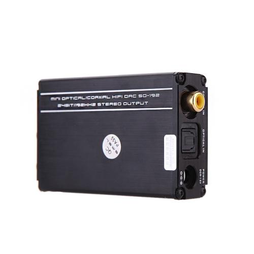 SMSL SD-192 PRO Decoder MINI DAC 24BIT/192Khz Upgraded Version Optical Coaxial Input RCA 3.5mm headphone Output Decoder Digital DAC