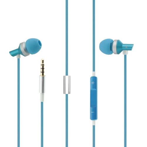 Andoer Stéréo 3.5mm Ultra-légers Métal Écouteurs Anti-Enroulement Casque avec Microphone et Contrôle du Volume pour iPod iPhone iPad Android
