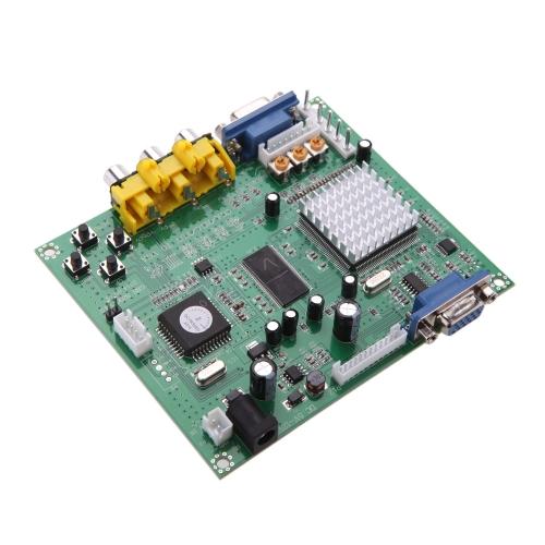GBS8200 genuíno portátil 5V baixo ativo 1 canal Relay módulo placa CGA / EGA / YUV / RGB para VGA Arcade jogo conversor de vídeo para Monitor CRT Monitor LCD Monitor PDP