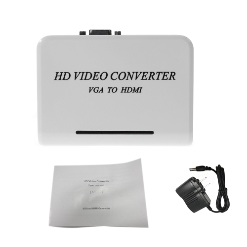 Full 1080P VGA + Audio to HD HD HDTV Video & Audio Converter Adapter for PC Laptop NoteBook DVD