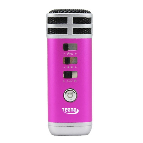 Mini 3.5mm Microphone Karaoke Player for PC/Phone/PSP/MP4/MP3 Rose