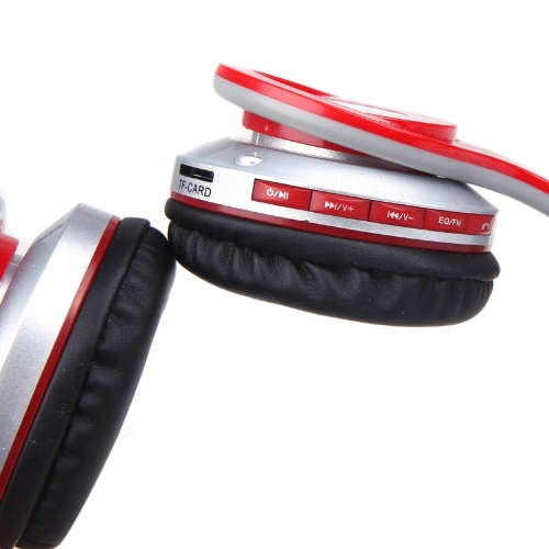 Foldable Wireless Bluetooth Stereo Headphone Headset Mic FM TF Slot for iPhone iPad PC Red