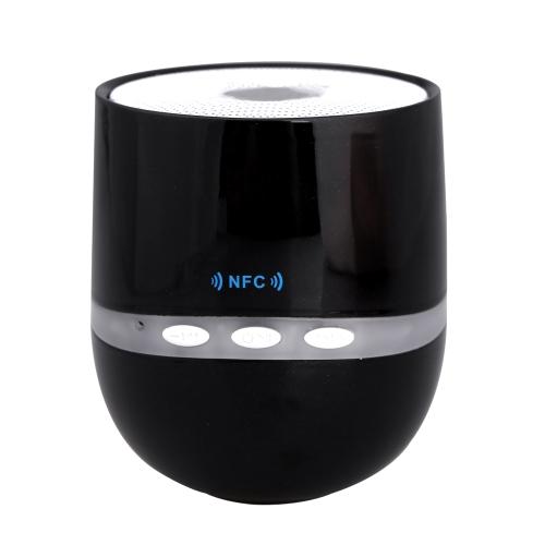 Sans fil BT Mini Speaker Support NFC avec fente pour carte TF micro 3,5 mm Jack Aux Portable pour iPod iPhone Samsung PC MP3 noir