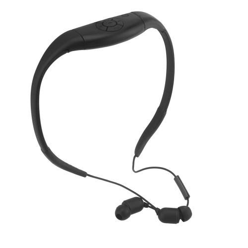 Waterproof Wireless Bluetooth Sports Earphone Headset Headphone for Cellphone PC Swimming Skating Black