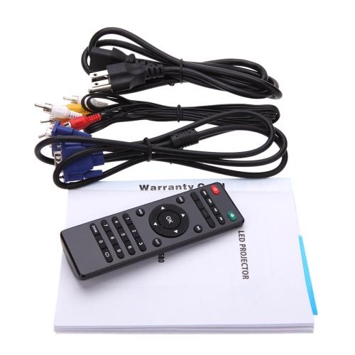 LED 3200 Lumens Projector Home Theater 1280*800 HD-Ready 1080P HD VGA DTV/ATV S-video USB