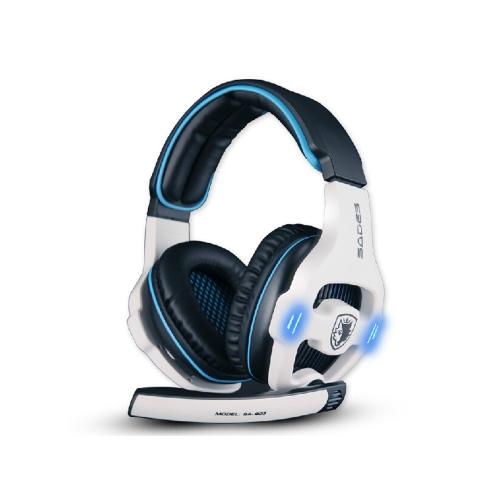 SADES SA903 7.1 Sound USB Gaming Game Headphone Headset Mic Spotlight Remote for PC Laptop