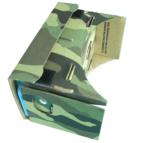 Camouflaged DIY Google Cardboard Virtual Reality VR 3D Glasses for iPhone 6 5S 5.0