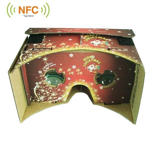 Christmas DIY Google Cardboard Virtual Reality VR 3D Glasses with NFC Tag for 5.0