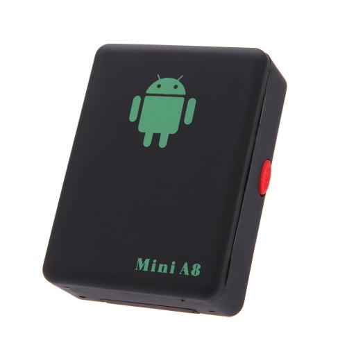 Mini A8 Localizador PerseguidorGlobal del GSM / GPRS con 4 Bandas de seguimiento y Botón de SOS para Coches / Niños / Ancianos / Mascotas