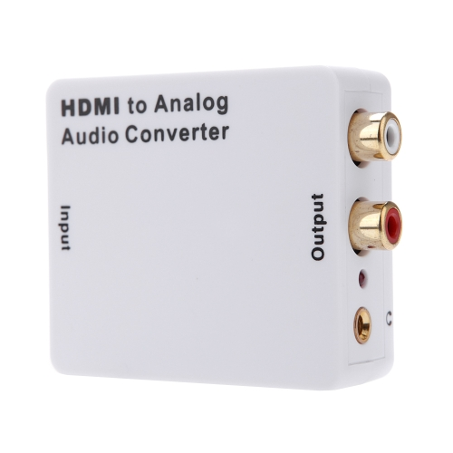 HD Input to R/L Analog Audio Output Convertor Signal Digital Adapter