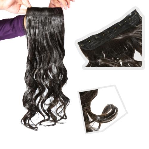 tempo onda/cacheados/ondulados cabelos perucas com clip preto