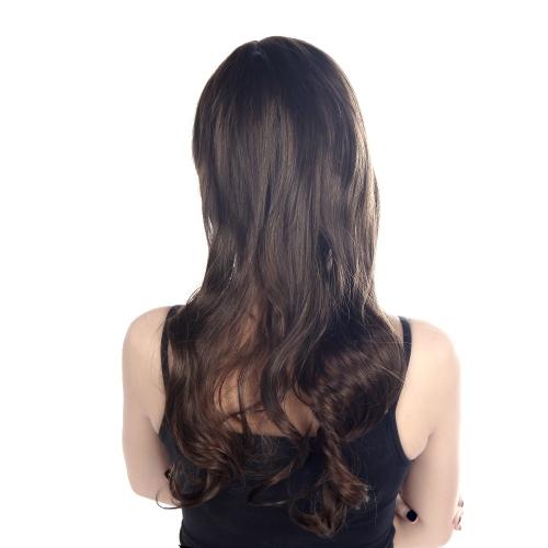 Ondulado cabelos cacheados castanhos claros do 60cm moda Cosplay peruca festa mulheres Sexy