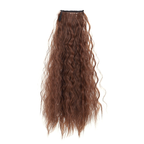 Women Horsetail Hair Extensions Corn Curly Make Up Ponytail Wig Hairpiece