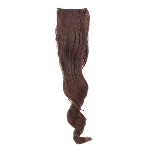 Postiches queue de cheval longue ondulée fil haute température faisceaux Mawei Style sangles