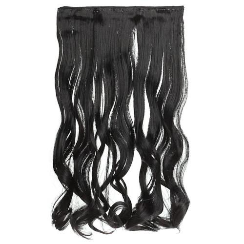 6Clips tempo grande onda cabelo engrossar moda Popular deusa encantadora enrolado cabelo extensão
