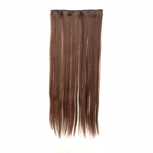 5Clips Clip in Hair Extension Hairpieces Slice Synthetic Straight Hair  24