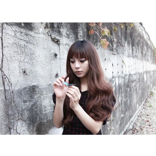5Clips tempo grande onda cabelo engrossar moda Popular deusa encantadora enrolado cabelo extensão