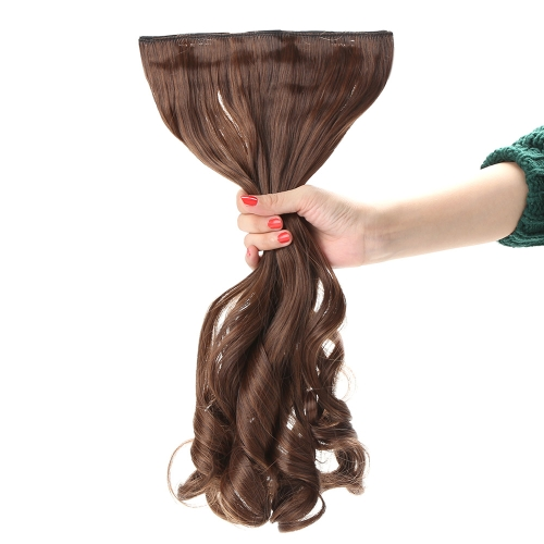 """24"""" 60cm Long Curly Hair Extension Women Waving Hairs 5 Clips in Hair Extensions"""