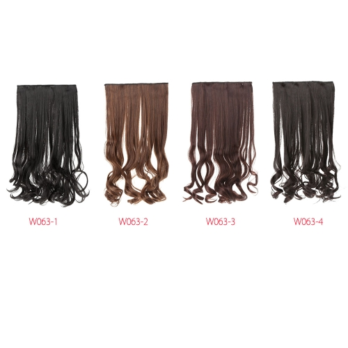5 clips vaya rollo engrosamiento largo y rizado pelo seda fibra da alta temperatura del pedazo