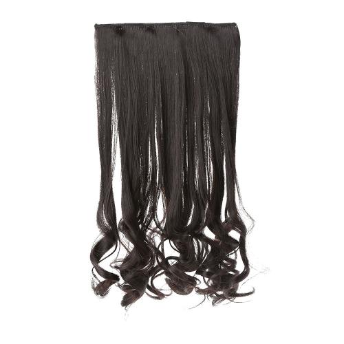 5 клипов прокрутки утолщение шелковые длинные вьющиеся волосы Roll кусок волокна высокой температуры