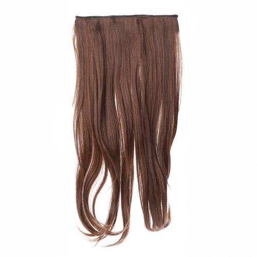 Высокая температура длинные шелковые слегка завитые среза волос с 5 BB зажим моделирования кружева парик