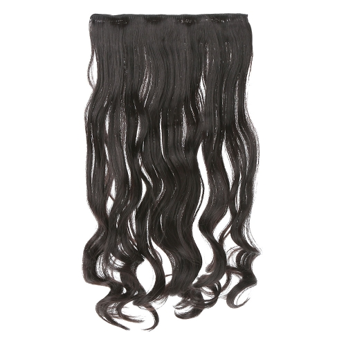 5Clips-stummellenker in das wellige locken Haarteile Slice Hair Extension Pferdeschwanz