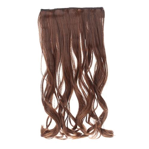 5Clips в на волнистые Curl синтетических шиньоны среза волос расширение хвост высокой температуры волокна