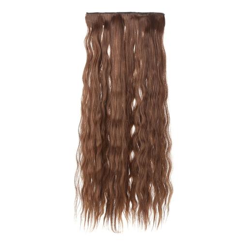 24'' 60 см длинные вьющиеся волосы расширение кукурузы женщин размахивая волос 5 клипы в наращивание волос