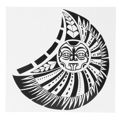 Tatuagem da etiqueta Deus Sol corpo impermeável arte temporária tatuagem papel