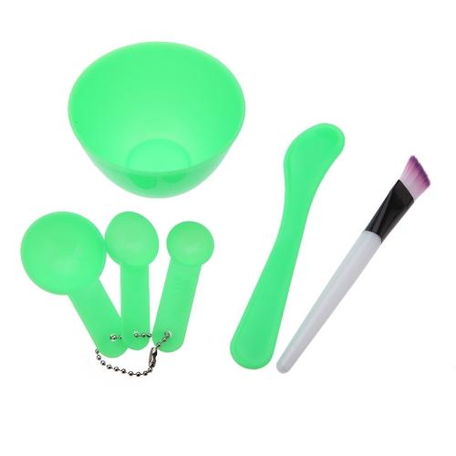 1Set 4 в 1 DIY красоты домашние лицо маска чаша женщин красоты аксессуары Инструменты маска кисти Stick датчик